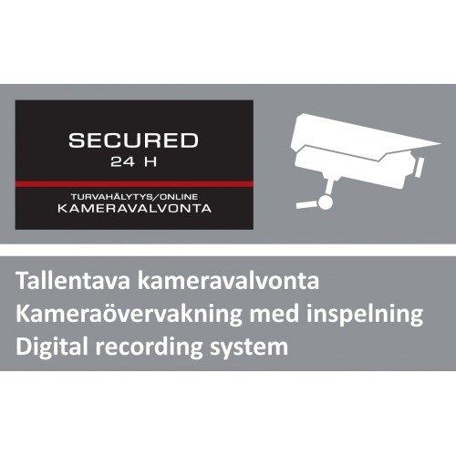 Kotihälytin Kameravalvonnan Varoituskyltti Suuri